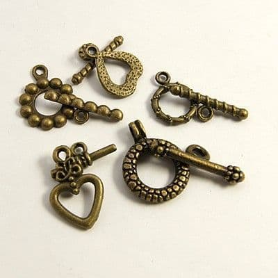 Lucky Dip Antique Bronze Toggle Clasp (5 sets)
